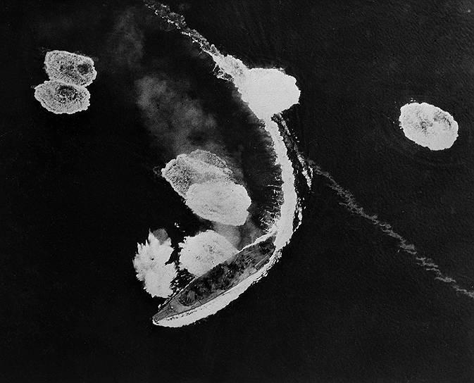 1945 год. В результате двух атак 380 американских бомбардировщиков затонул японский флагман «Ямато», погибло не менее 2,5 тыс. человек