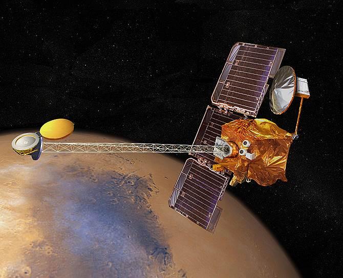 2001 год. Запущен «Марс Одиссей» — действующий орбитальный аппарат НАСА, исследующий Марс. Главная задача, стоящая перед аппаратом, заключается в изучении геологического строения планеты и поиске минералов