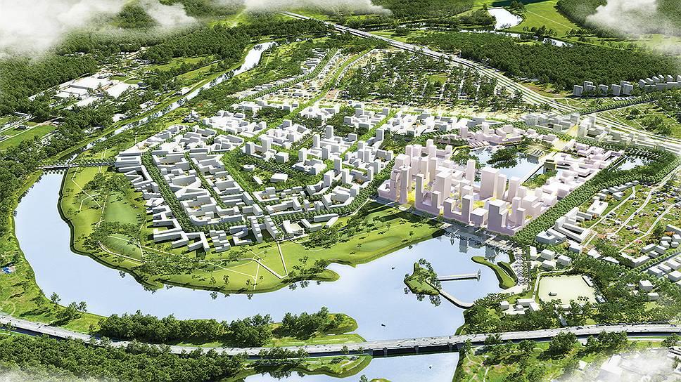 Общий вид. Концепция консорциума во главе со голландским бюро KCAP Architects&Planners