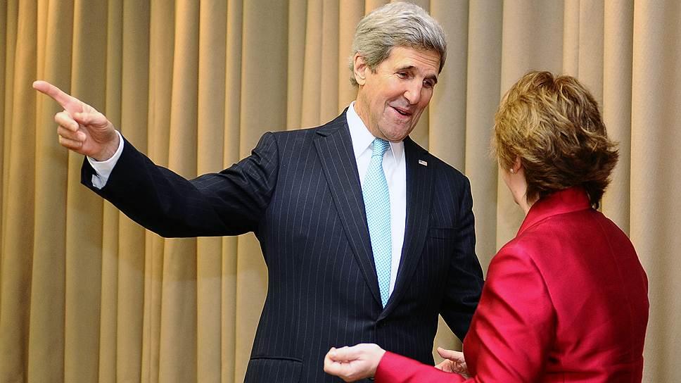 Госсекретарь США Джон Керри и верховный представитель ЕС по иностранным делам и политике безопасности Кэтрин Эштон