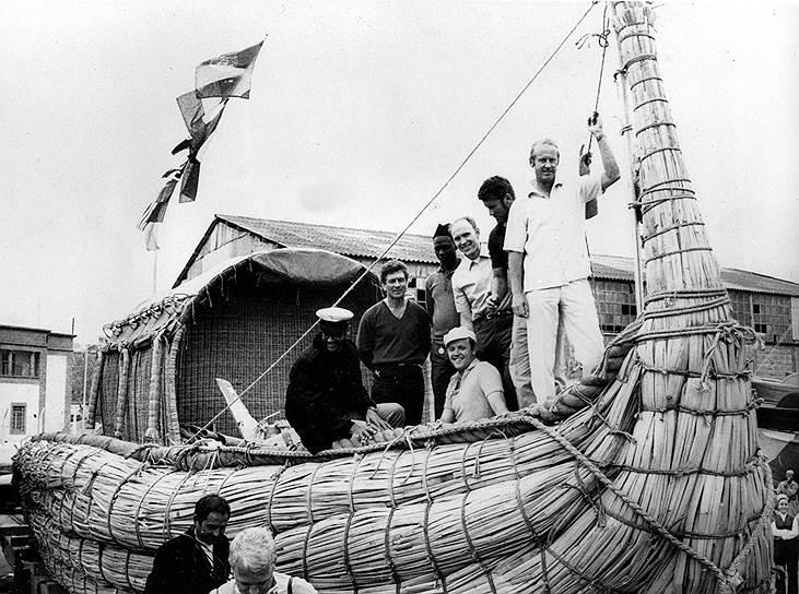 1970 год. Экспедиция норвежского путешественника-исследователя Тура Хейердала на папирусной лодке «Ра-2» отправляется из марокканского города Сафи в плавание через Атлантический океан, чтобы продемонстрировать возможность достижения берегов Америки древними народами Африки