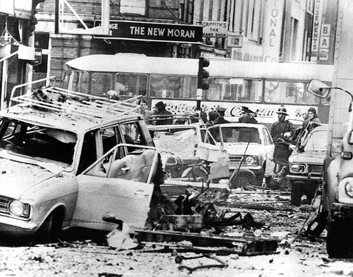 1974 год. В результате взрыва четырех бомб в Дублине и Монагане (Ирландия), ответственность за которые взяли на себя Ольстерские добровольческие силы (UVF), 33 человека погибли и 300 получили ранения