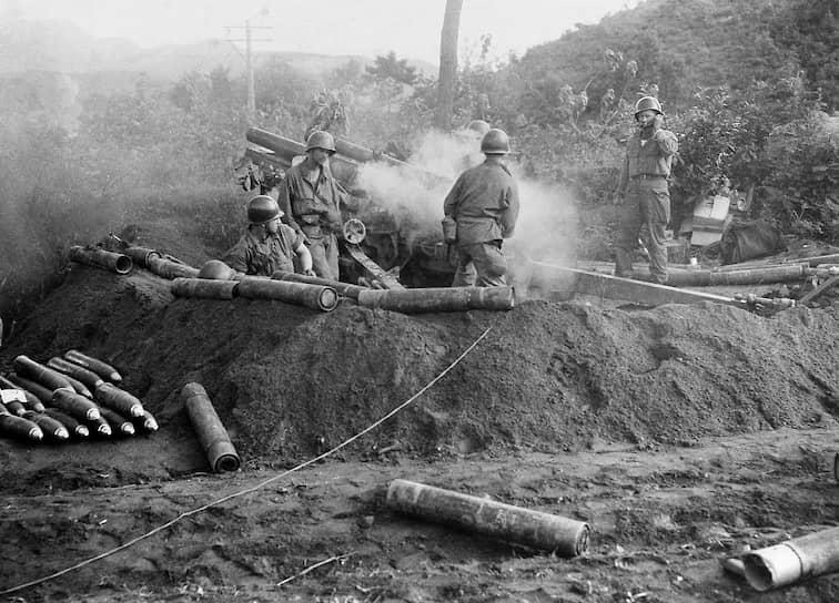 В течение 1951 года войска КНДР и КНР дважды захватывали Сеул и отступали. К концу 1951 года линия фронта стабилизировалась по 38-й параллели