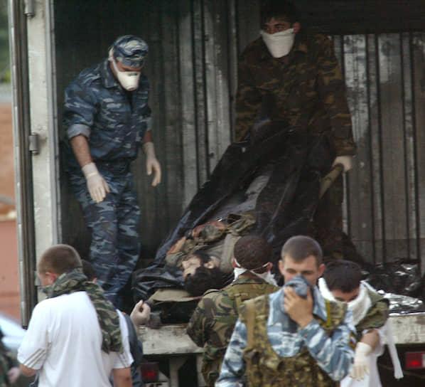 31 террорист, участвовавший в захвате школы, был убит. Их трупы кремировали, прах захоронен в безымянных могилах. По одним данным, в колонии строгого режима в Ставропольском крае, по другим — на территории Северной Осетии