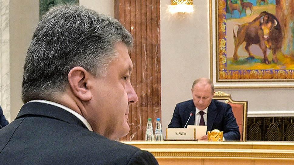 Как Владимир Путин и Петр Порошенко обсудили режим прекращения огня в Донбассе