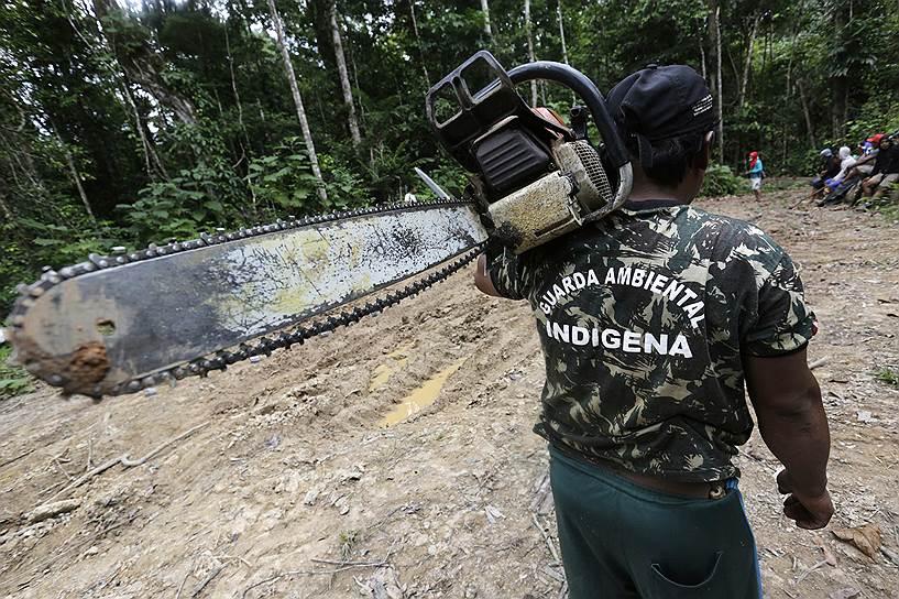 «У нас хотели отнять лес, но мы очнулись. Белые чувствуют, что им нет пользы от растущего леса. Они просто не могут понять, что живые джунгли -- это спасение для мира, что они помогают Земле дышать», — объясняют свои действия индейцы