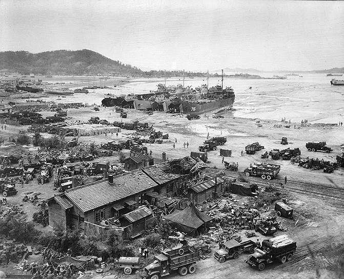 1950 год. Корейская война: вооруженные силы США начали Инчхонскую десантную операцию