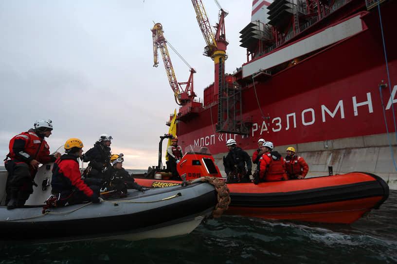 18 сентября 2013 года активисты Greenpeace попытались высадиться на нефтяную платформу «Приразломная» в Печорском море, чтобы провести акцию протеста против бурения в Арктике. В результате арендованное ими голландское судно Arctic Sunrise было отбуксировано пограничниками в Мурманск, а 30 членам экипажа предъявили обвинения в пиратстве. Позже обвинение было переквалифицировано на хулиганство, а в декабре 2013 года экипаж амнистировали