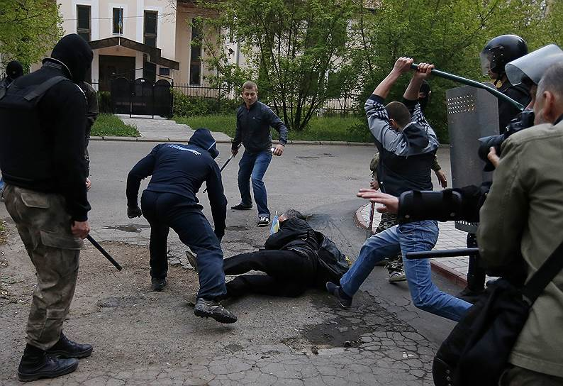 28 апреля 2014 года. Начались беспорядки на улицах Донецка