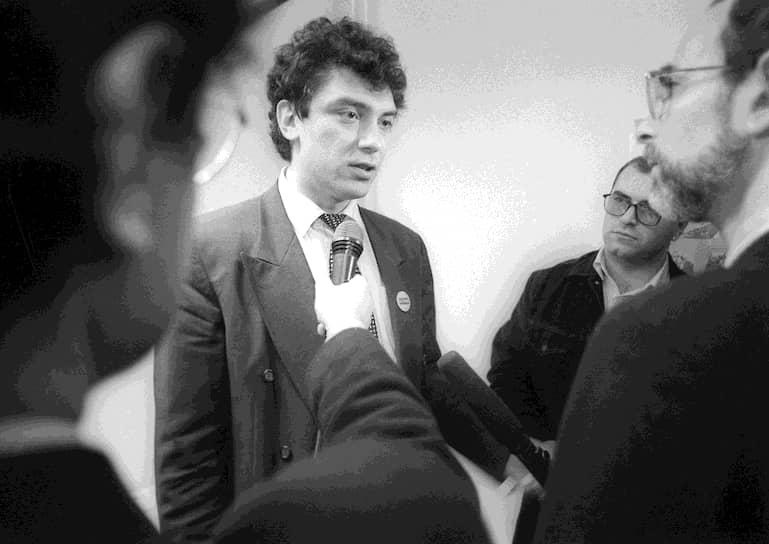 В 1990 году Борис Немцов был избран народным депутатом РСФСР, в 1991 году назначен представителем президента в Нижегородской области. Сам Немцов утверждает, что Борис Ельцин, с которым они были знакомы по Верховному совету, назначил его своим представителем в области, потому что молодой депутат «был единственным, кого Ельцин знал в Нижнем». Управленческого опыта Немцов не имел, но задержался там почти на шесть лет — в ноябре 1991 года он был назначен главой региона, а в декабре 1995-го победил на губернаторских выборах