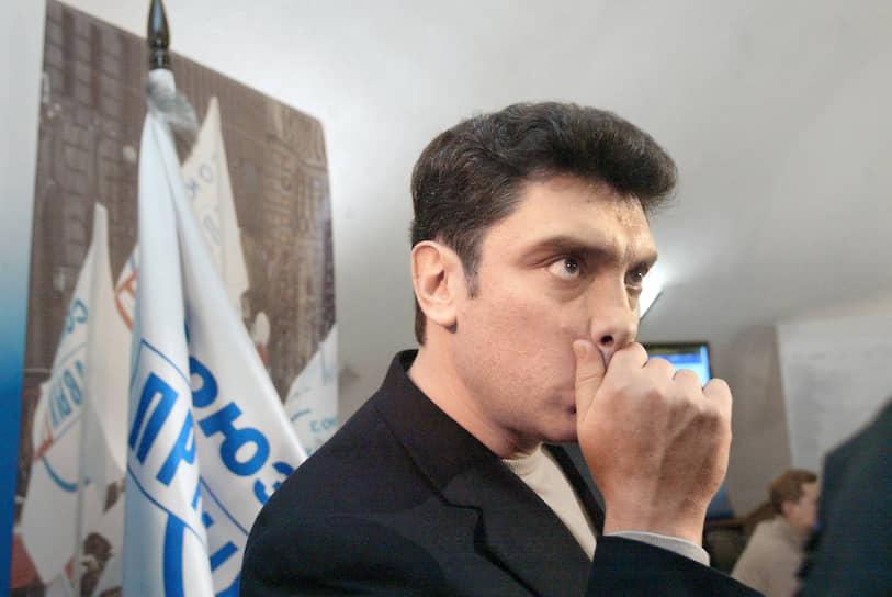 Перед выборами в парламент 1999 года Бориса Немцов вошел в избирательный блок «Союз правых сил» (СПС). За СПС отдали голоса 8,52% избирателей, всего он получил 29 мандатов