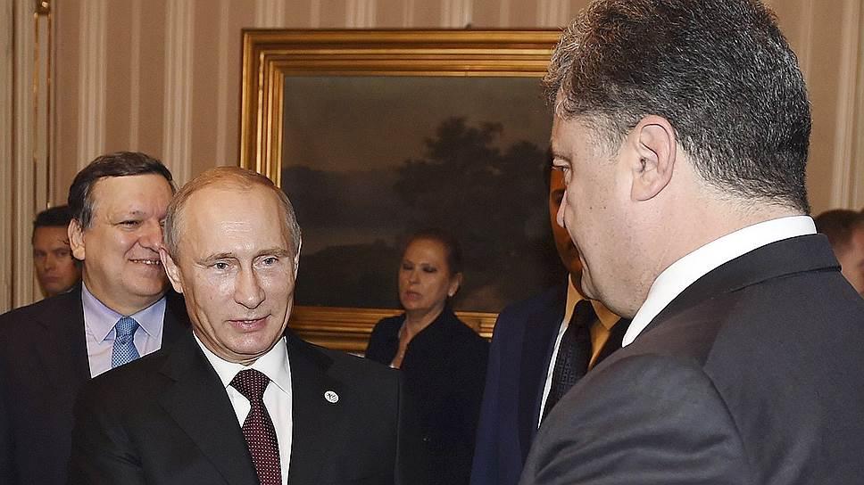 О чем говорил Владимир Путин с Петром Порошенко