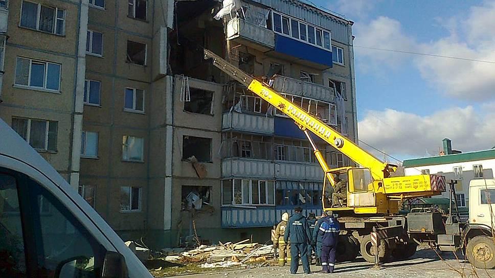 Взрыв газа разрушил пятиэтажку под Липецком