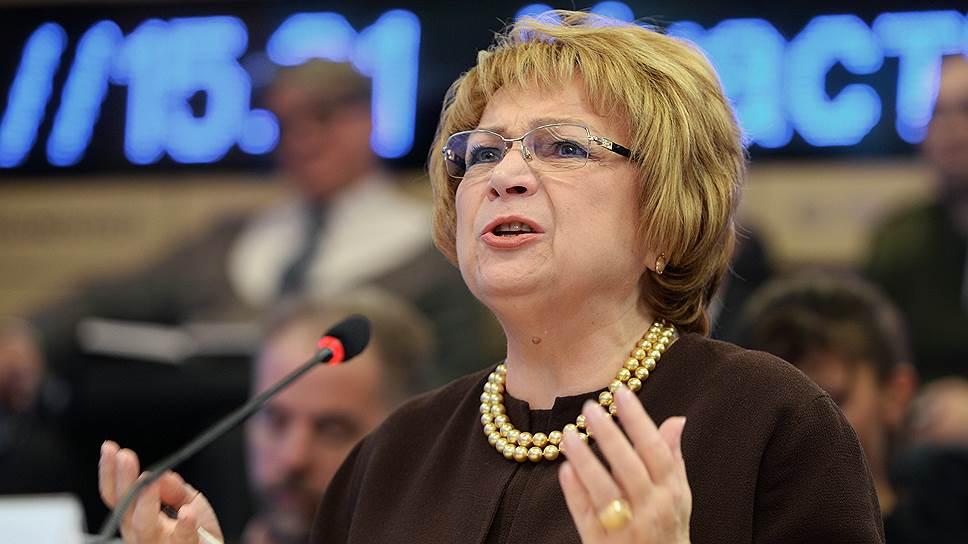 Заместитель председателя Государственной думы России Людмила Швецова