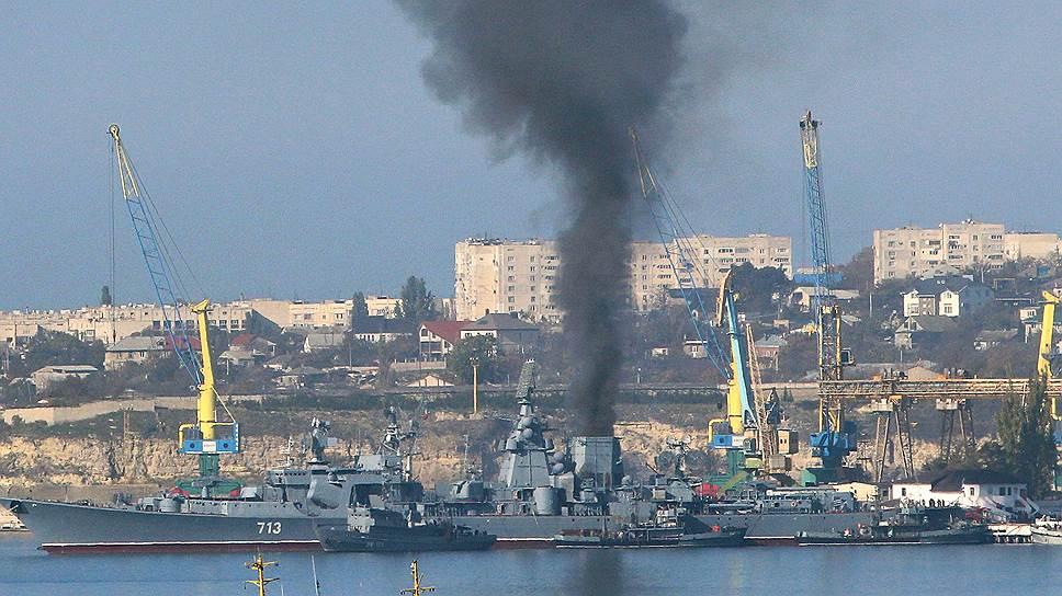Как в Севастополе горела «Керчь»