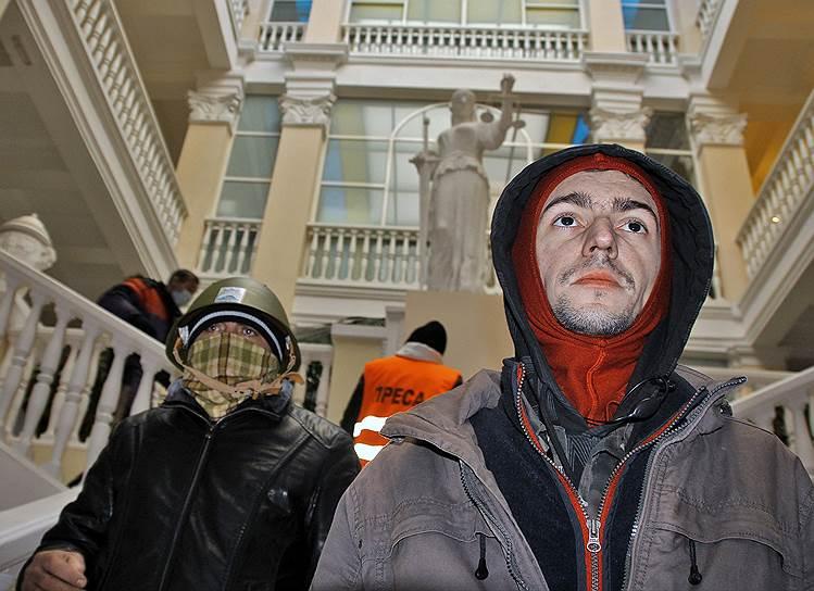 27 января. Захвачено одно из зданий Минюста Украины