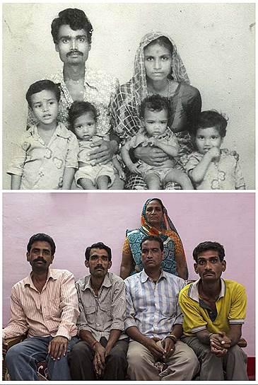На фото сверху Лата Баи, ее муж Ашок и их сыновья. Ашок умер от химического отравления после трагедии в Бхопале