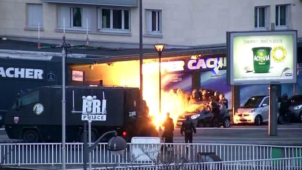 Как парижские террористы убиты во время штурма