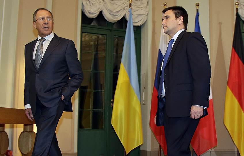 Глава МИД РФ Сергей Лавров и лава МИД Украины Павел Климкин