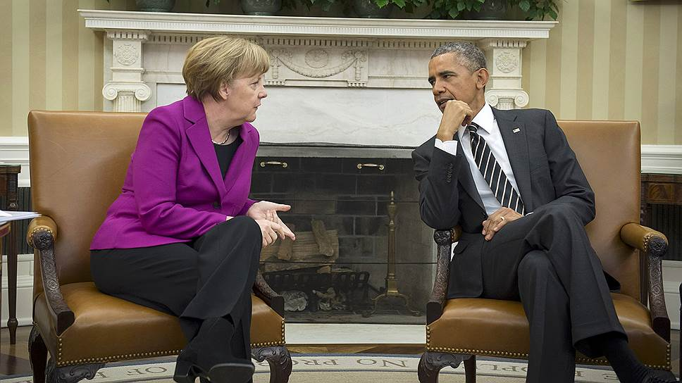 Канцлер Германии Ангела Меркель и президент США Барак Обама