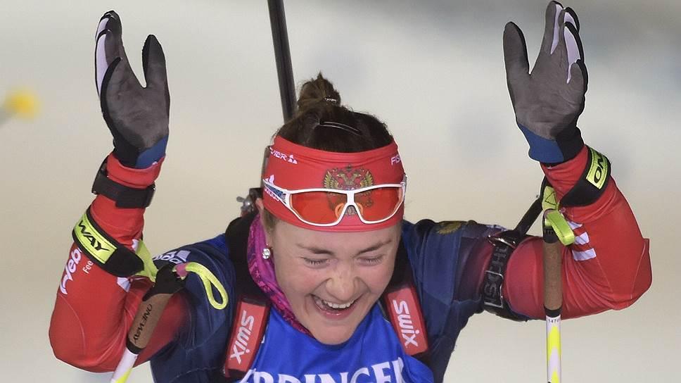 Российская биатлонистка Екатерина Юрлова