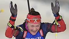 Сборная России завоевала первое золото ЧМ по биатлону в Финляндии