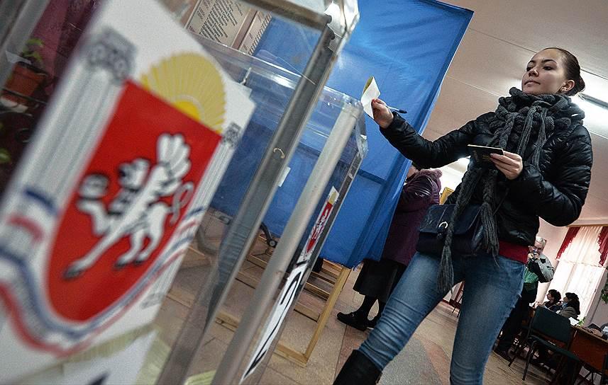 16 марта, по данным комиссии по проведению референдума, за вхождение республики в состав России в Крыму проголосовали 96,77% жителей