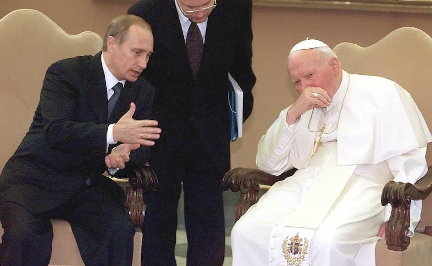 5 ноября 2003 года понтифик принял в Ватикане президента России Владимира Путина, для которого этот визит в Ватикан стал первым