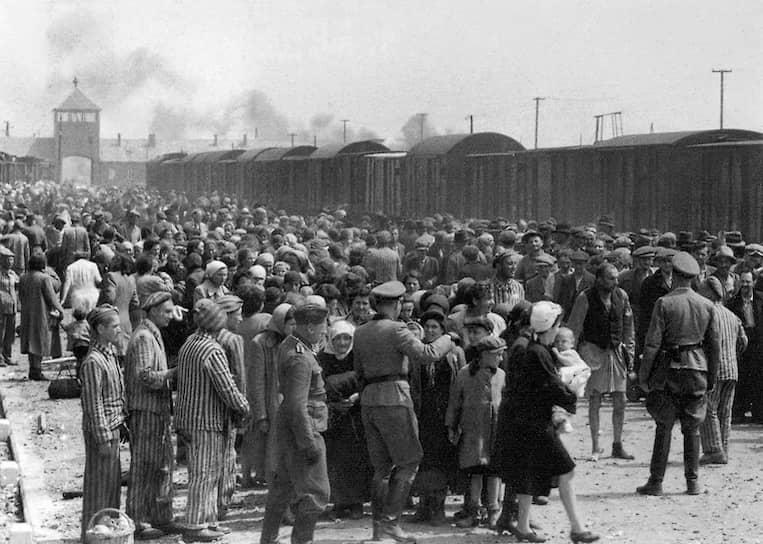 Лагерный комплекс Освенцим (Auschwitz) был создан нацистами на территории Польши в апреле 1940 года и включал в себя три лагеря: Аушвиц 1, Аушвиц 2 (Биркенау) и Аушвиц 3. На протяжении двух лет количество заключенных варьировалось от 13 до 16 тыс., а к 1942 году достигло 20 тыс. человек. Шесть дней в неделю все без исключения должны были работать. От тяжелых условий работы за первые 3-4 месяца умирали около 80% заключенных