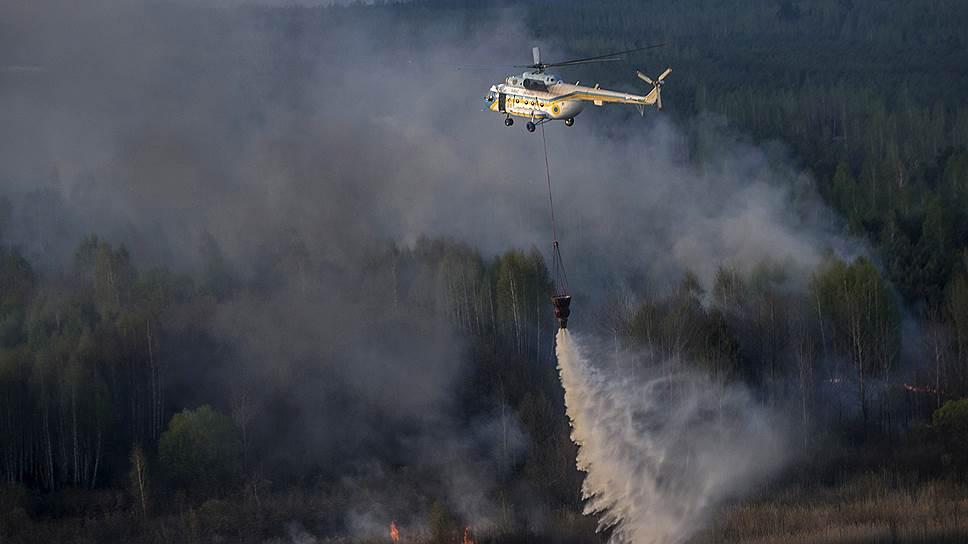 Как в районе Чернобыля горело 400 га леса