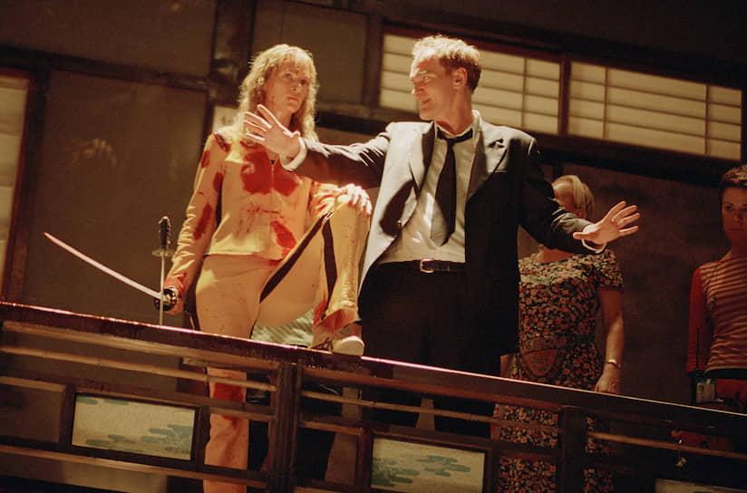 «Чтобы подготовиться к съемкам, мне пришлось несколько месяцев заниматься боевыми искусствами. Моя героиня не только прекрасно дерется, но и владеет практически всеми видами оружия, так что тренировалась я очень упорно и почти ежедневно. Скажу вам честно, что ни в чем подобном я раньше не участвовала» <br>Картина Тарантино «Убить Билла» вышла на экраны в 2003 году и получила хорошие отзывы критиков и зрителей. Турман была номинирована на несколько премий, в том числе «Золотой глобус», но так и не была награждена