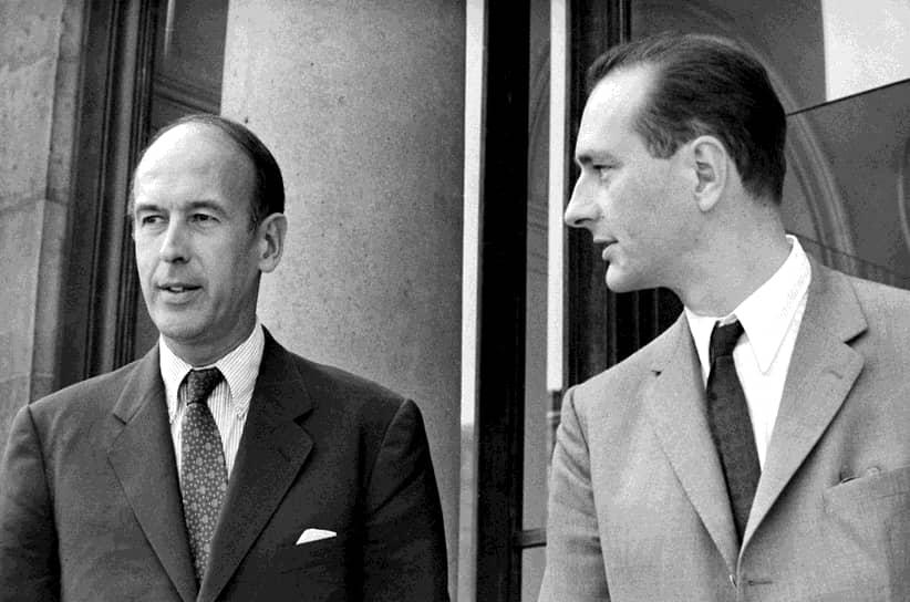 Победой на выборах 1974 года Валери Жискар д'Эстен во многом обязан мощной поддержке голлистской партии. Среди его активных сторонников был и министр сельского хозяйства того времени Жак Ширак (на фото справа). В новом правительстве он возглавил МВД, а позже и сам кабинет. Их политический союз продлился всего два года. После своей отставки в 1976 году Ширак избрался мэром Парижа. Пять лет спустя Ширак вступил в борьбу за Елисейский дворец, но оказался лишь третьим. В преддверии второго тура, Ширак призвал своих сторонников не голосовать за переизбрание Жискара, тем самым предопределив исход выборов. В результате новым хозяином Елисейского дворца в 1981 году стал Франсуа Миттеран