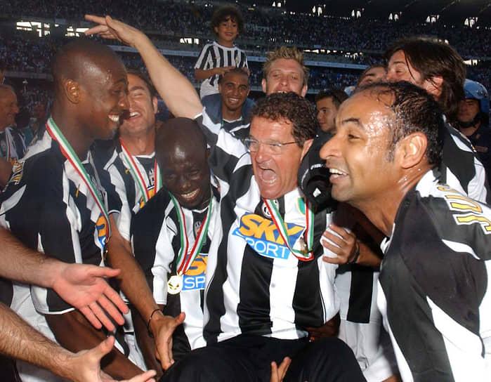 В 2004-2006 годы Капелло тренировал туринский «Ювентус». С ним команда завоевала два титула чемпиона Италии, которых затем лишилась из-за коррупционного скандала. В 2008 году тренер также проходил по делу о сокрытии налогов, но в итоге обвинения были сняты