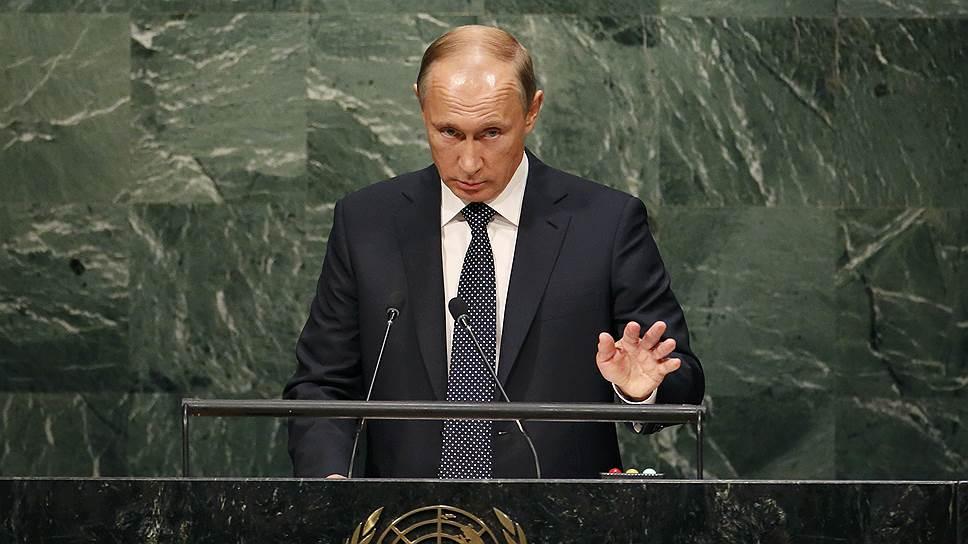 Президент России Владимир Путин во время выступления