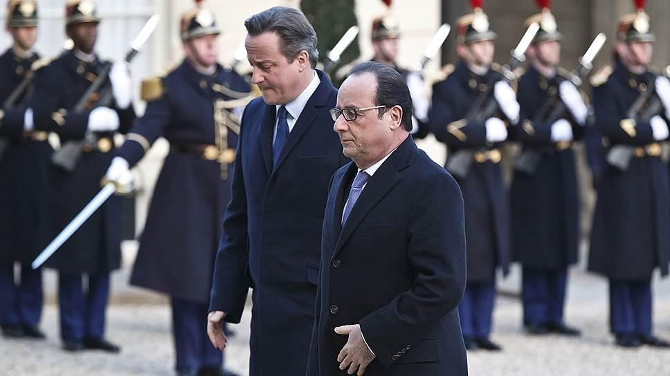 Президент Франции Франсуа Олланд и премьер-министр Великоьритании Дэвид Кэмерон