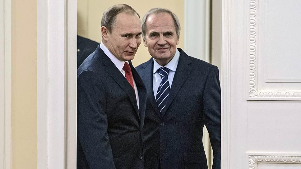 Президент России Владимир путин и председатель КС РФ Валерий Зорькин