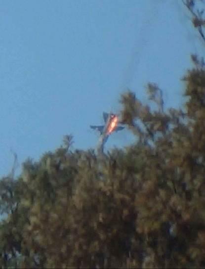 24 ноября. Крушение Су-24 в Сирии после атаки турецким F-16