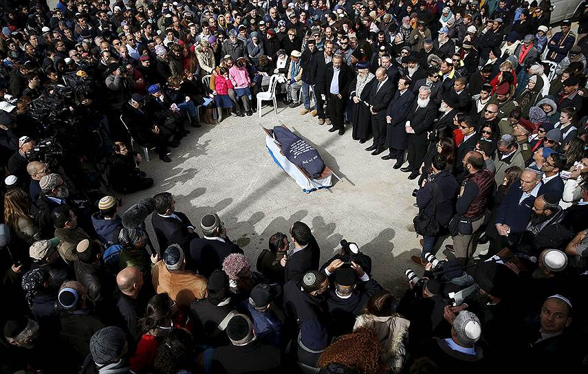 Иерусалим. Похороны 38-летней Дафны Меир, жительницы поселка Отниэль (Южнохевронское нагорье), убитой арабским террористом