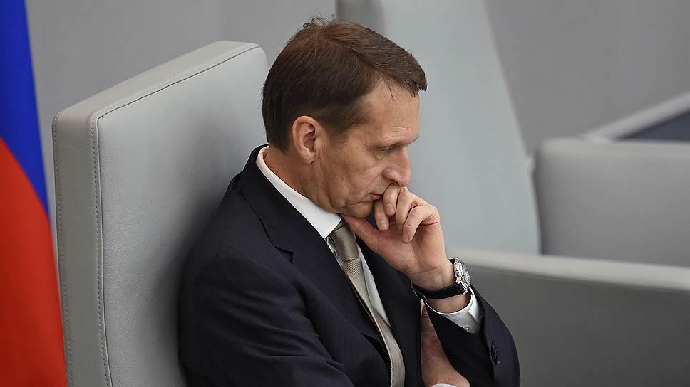 Сергей Нарышкин хочет научить оппозицию и Рамзана Кадырова диалогу