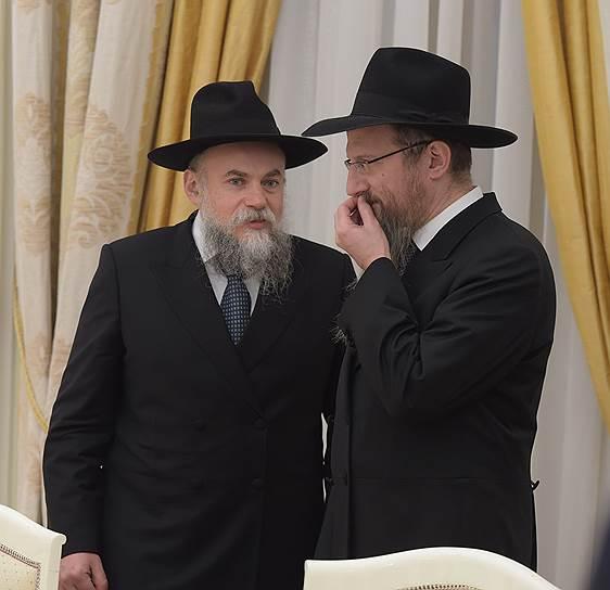 Александр Борода и Берл Лазар на вечерней встрече в Кремле работали в составе российской делегации, а не Европейского еврейского конгресса