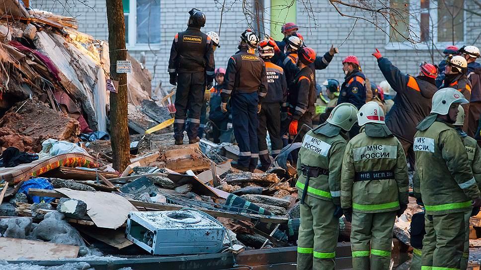 В Ярославле в результате взрыва газа обрушились пять этажей жилого дома