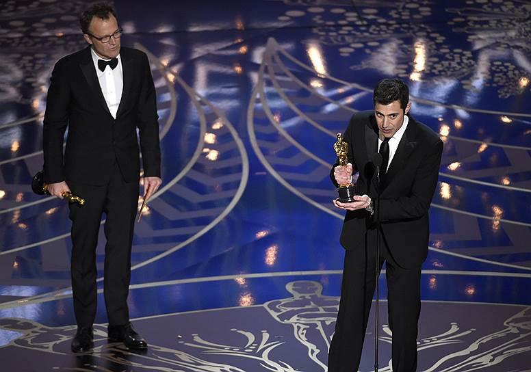 Джош Сингер и Томас Маккарти — фильм «В центре внимания». Оскар за «Лучший оригинальный сценарий»