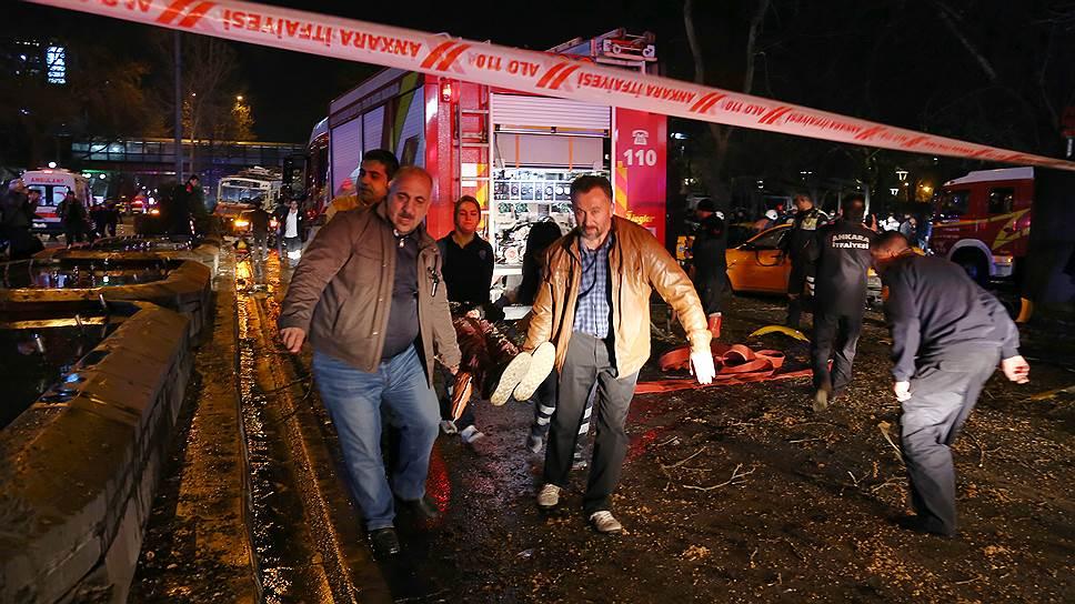 В результате взрыва в центре Анкары погибли 37 человек