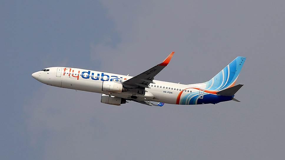 Архивное фото самолета Boeing 737-800 авиакомпании flydubai, который разбился под Ростовом-на-Дону, выполняя рейс FZ981