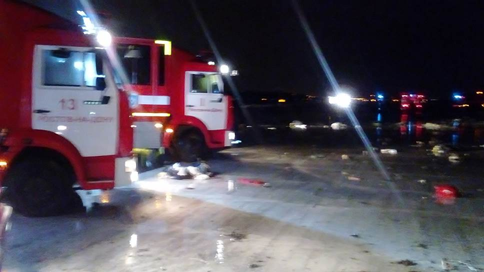 Место катастрофы самолета Boeing 737-800 авиакомпании flydubai, выполнявшего рейс FZ981