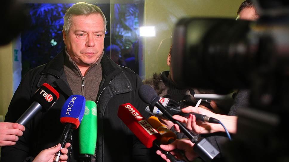 Губернатор Ростовской области Василий Голубев отвечает на вопросы журналистов