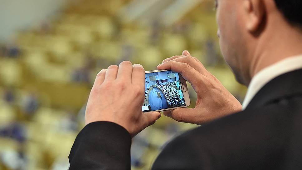 На фото: пленарное заседание Госдумы