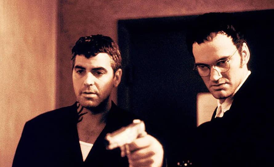 Через год после начала «Скорой помощи» в 1995 году на экраны вышел культовый фильм Квентина Тарантино (на фото справа) и Роберта Родригеса «От заката до рассвета», в котором Клуни сыграл главную роль. За ним в 1996 году последовала мелодрама «Один прекрасный день», где Клуни сыграл в паре с Мишель Пфайффер