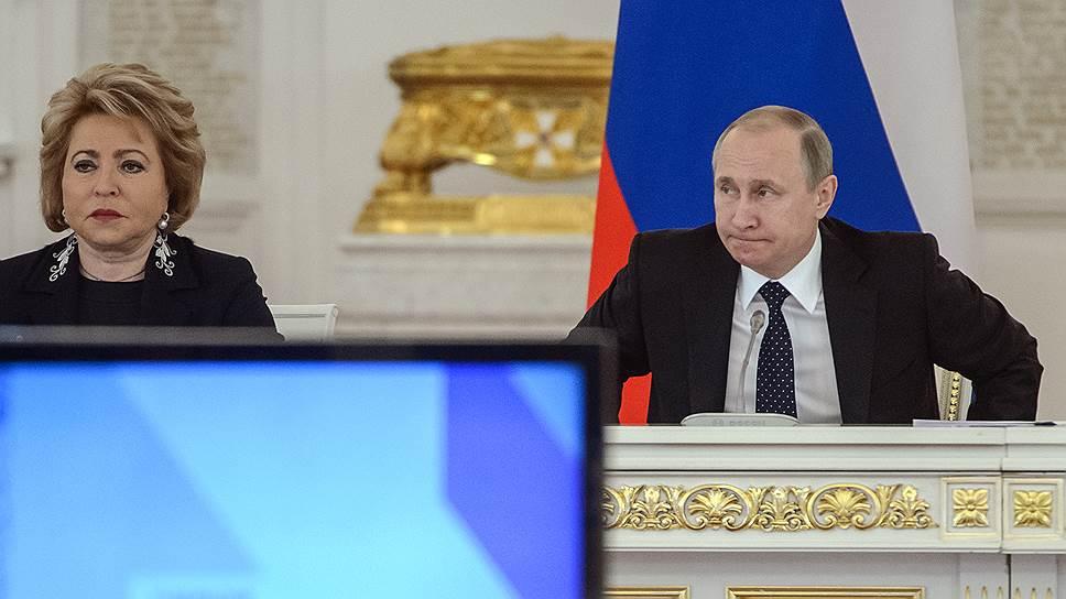 Валентина Матвиенко на этом заседании не выступала, но вид ее говорил о многом