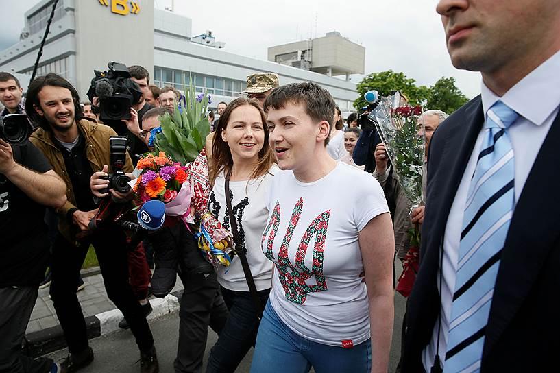 Надежда Савченко с сестрой Верой